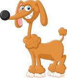 动画片可爱狗摆在 向量例证