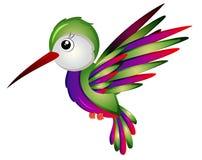 动画片哼唱着鸟传染媒介例证 免版税库存照片