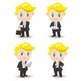 动画片商人和技术 免版税库存图片