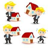 动画片商人房屋贷款 免版税库存图片