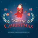 动画片圣诞老人在各种各样的姿势收藏 快乐的父亲 皇族释放例证