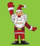 动画片圣诞老人 库存图片
