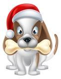 动画片圣诞节小狗 免版税库存照片