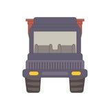 动画片在白色背景隔绝的翻斗卡车 库存图片