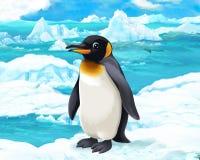 动画片场面-北极动物-企鹅 皇族释放例证