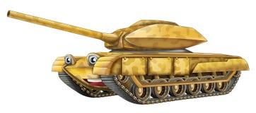 动画片坦克 库存图片