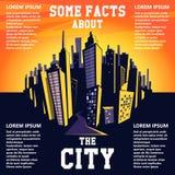 动画片城市背景 8都市风景eps例证向量 免版税库存图片