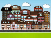 动画片城市 图库摄影