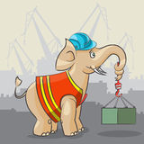 大象是起重机 免版税库存照片
