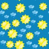 动画片太阳和雪无缝的纹理637 向量例证