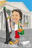 动画片女孩建筑师在意大利 免版税库存照片
