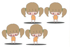 动画片女孩2 库存图片