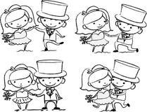 动画片婚礼图片 免版税库存图片