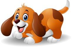 动画片嬉戏的小狗 库存图片