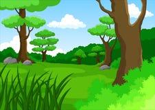 动画片密林背景 免版税库存图片