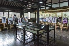 动画片展示在西部庭院里 免版税图库摄影