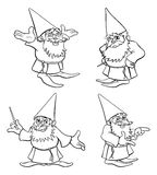 动画片巫术师集合 库存图片
