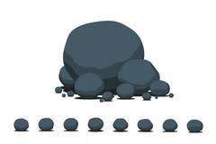 动画片平的石头集合 库存图片