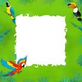 动画片徒步旅行队-密林-框架 库存例证