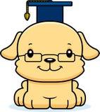 动画片微笑的老师小狗 免版税库存照片