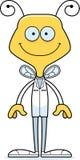 动画片微笑的医生Bee 向量例证