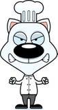 动画片恼怒的厨师小猫 免版税库存图片