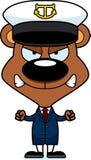 动画片恼怒的小船上尉Bear 免版税库存照片