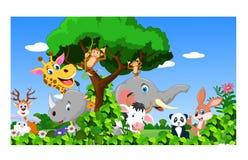 动画片愉快的小的动物 免版税库存照片