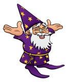动画片愉快的巫术师 免版税库存照片