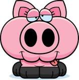 动画片愚蠢的猪 皇族释放例证