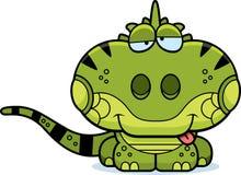 动画片愚蠢的鬣鳞蜥 库存例证
