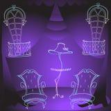 动画片扶手椅子家具交付颜色 免版税库存图片