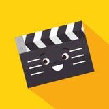 动画片拍板影片设计 库存照片