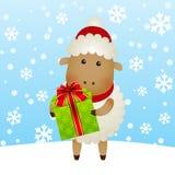 动画片新年绵羊 库存图片