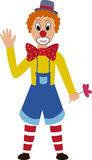动画片有被绘的面孔的乐趣小丑 免版税图库摄影