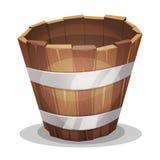 动画片木头桶 免版税库存图片