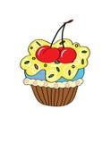 动画片杯形蛋糕 简单 免版税库存照片