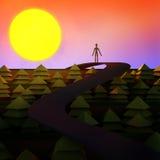 动画片样式梦想风景概念 库存图片