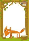 动画片框架场面-狐狸 免版税库存图片