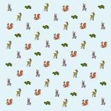 动画片森林动物墙纸 库存照片
