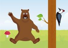 动画片森林动物 免版税库存图片