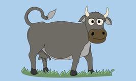 动画片母牛传染媒介例证 免版税库存照片
