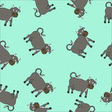 动画片母牛无缝的传染媒介例证 库存图片