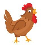 动画片母鸡传染媒介例证 免版税库存照片