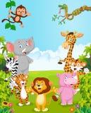 动画片汇集愉快的动物 免版税库存图片