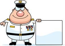 动画片海军Sign海军上将 库存图片