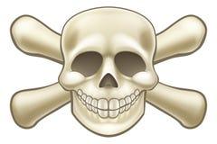 动画片海盗骷髅图 库存例证
