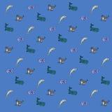 动画片海洋动物墙纸 图库摄影