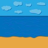 动画片海滩现实背景 向量 库存照片