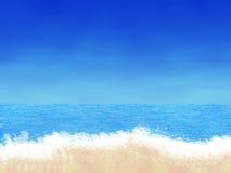 动画片海滩 免版税库存照片